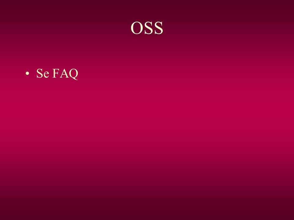 OSS Se FAQ