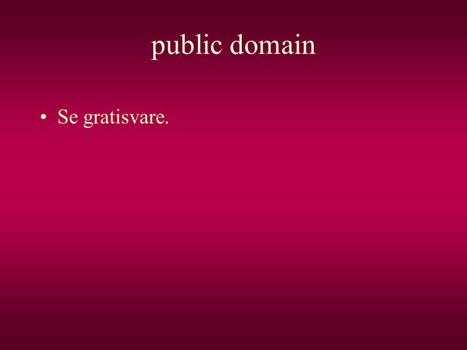 public domain Se gratisvare.