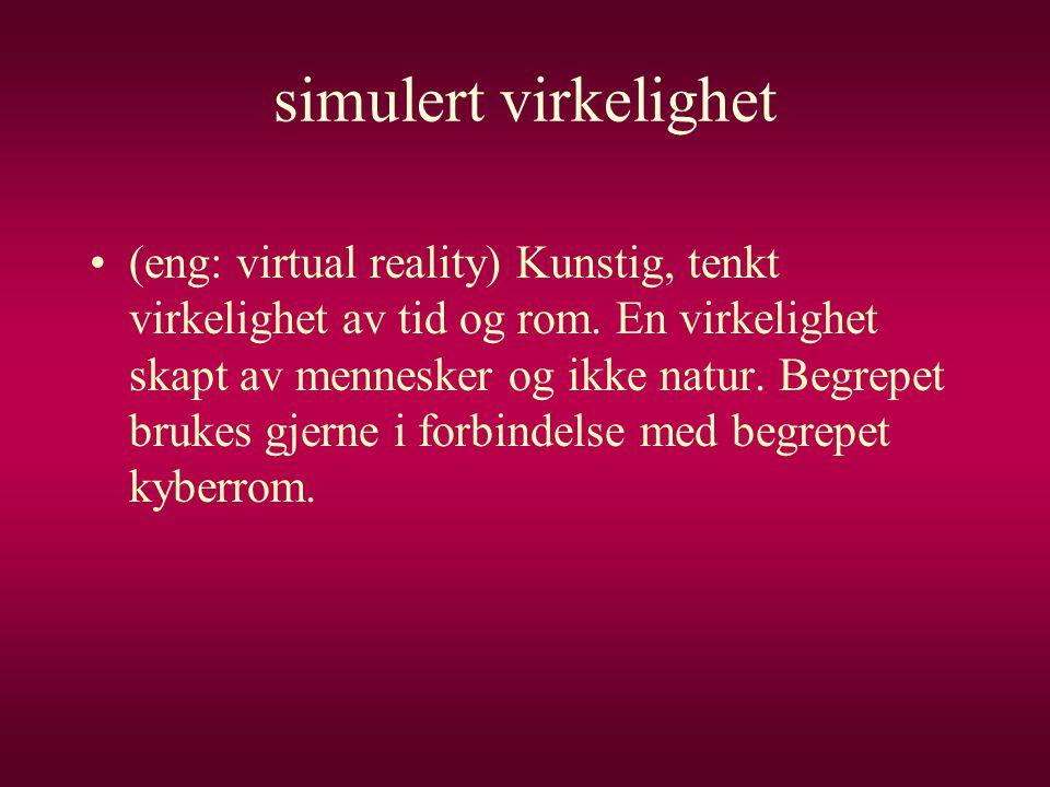 simulert virkelighet