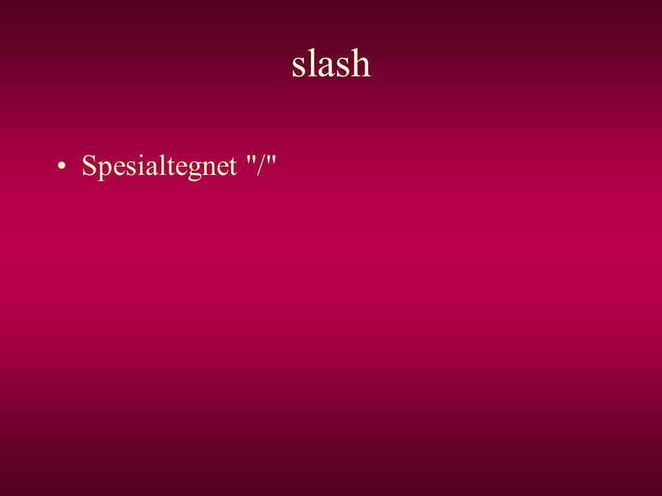 slash Spesialtegnet /