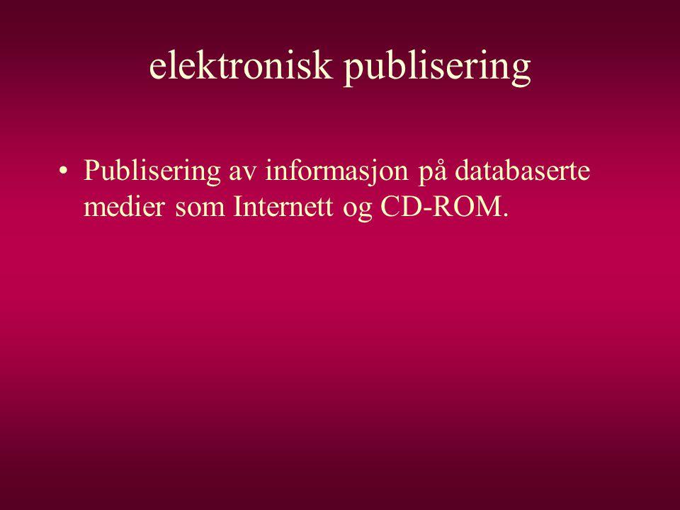 elektronisk publisering