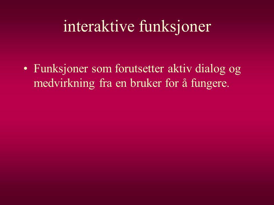interaktive funksjoner