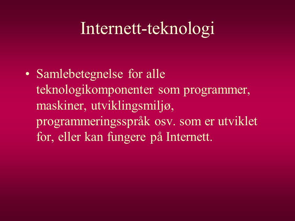 Internett-teknologi
