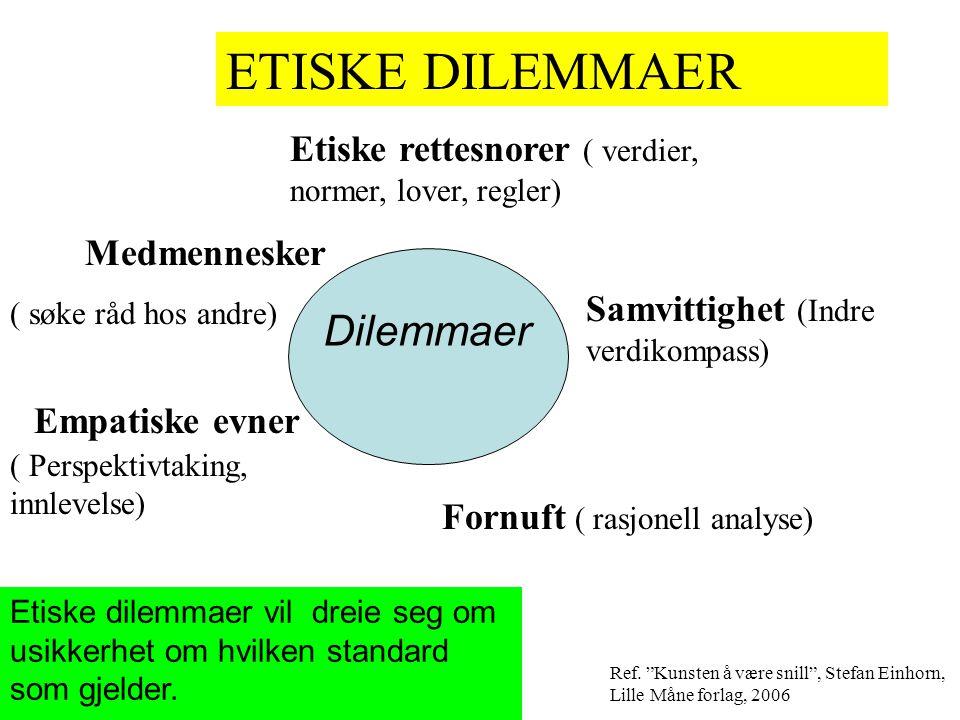 ETISKE DILEMMAER Dilemmaer