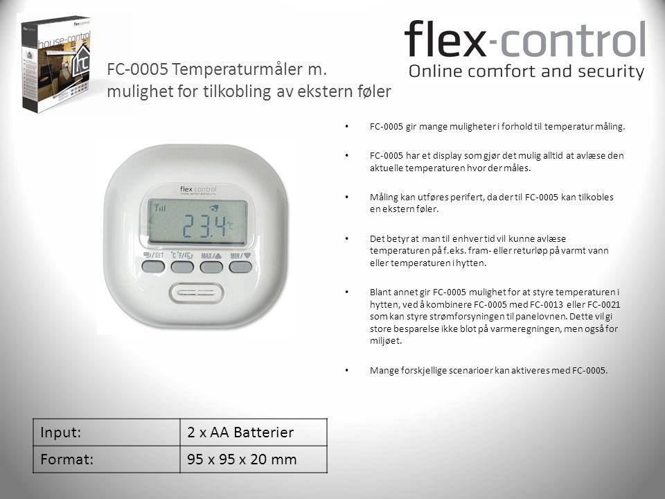 FC-0005 Temperaturmåler m. mulighet for tilkobling av ekstern føler