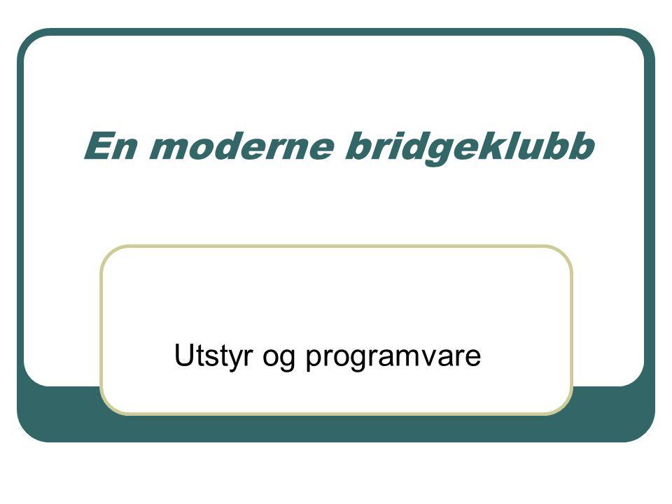 En moderne bridgeklubb