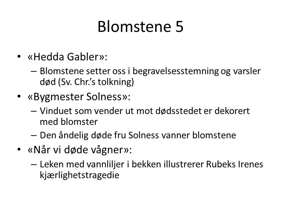 Blomstene 5 «Hedda Gabler»: «Bygmester Solness»: «Når vi døde vågner»: