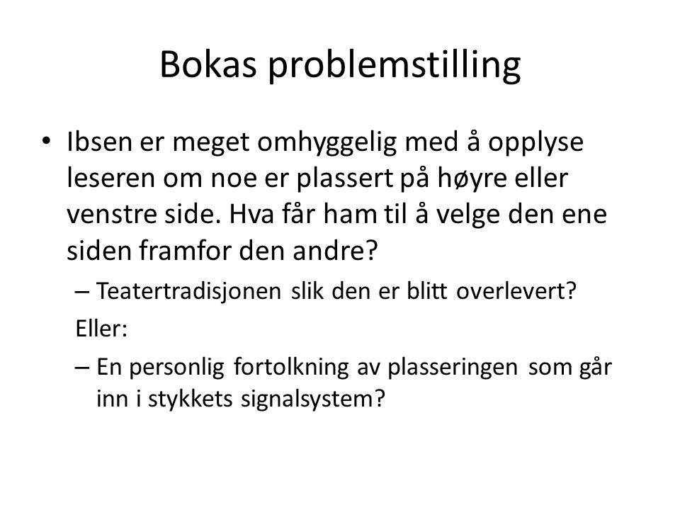 Bokas problemstilling