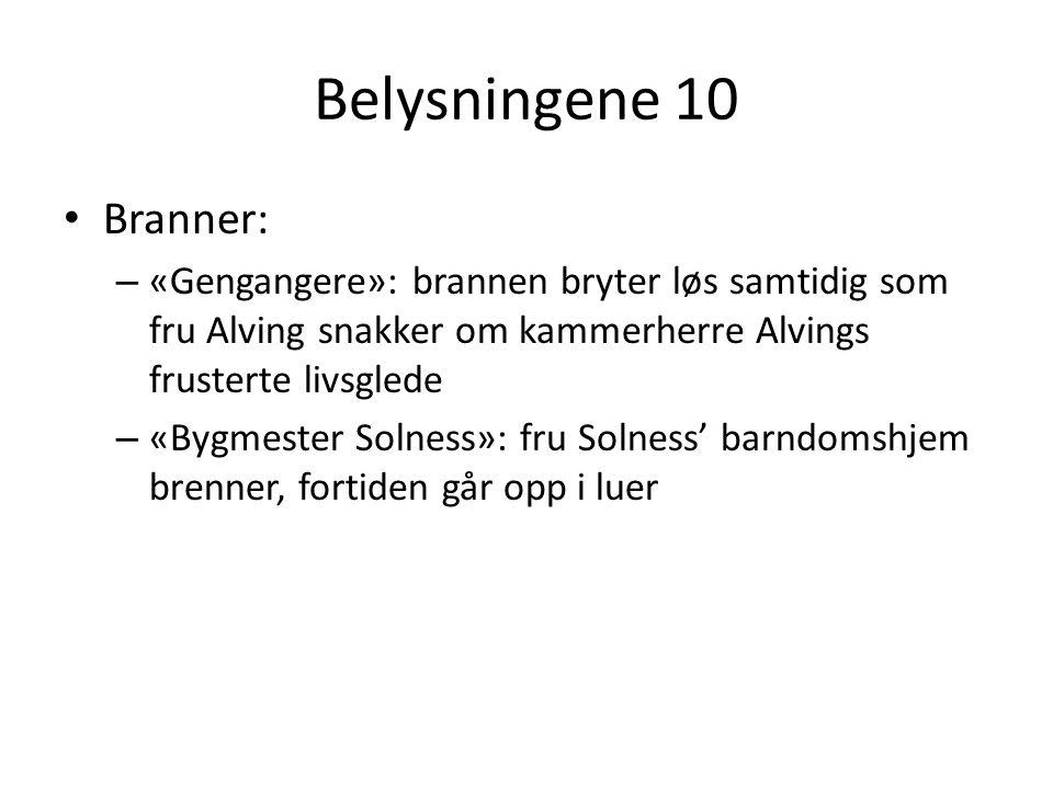 Belysningene 10 Branner: