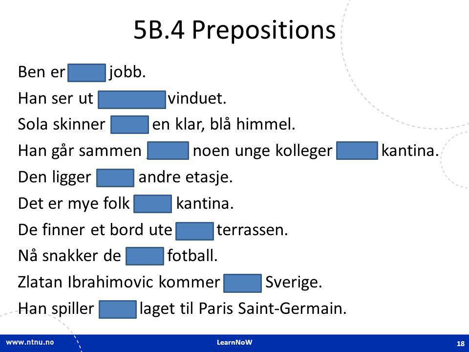 5B.4 Prepositions