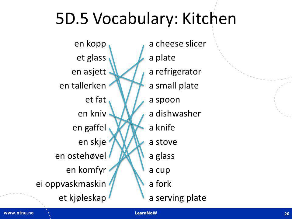 5D.5 Vocabulary: Kitchen