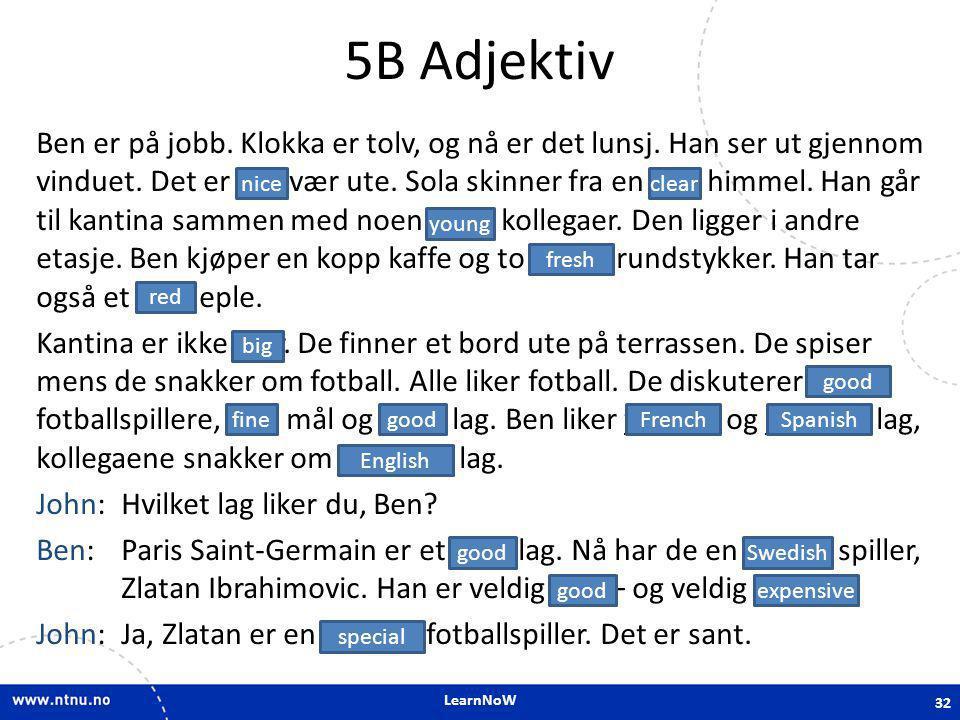 5B Adjektiv