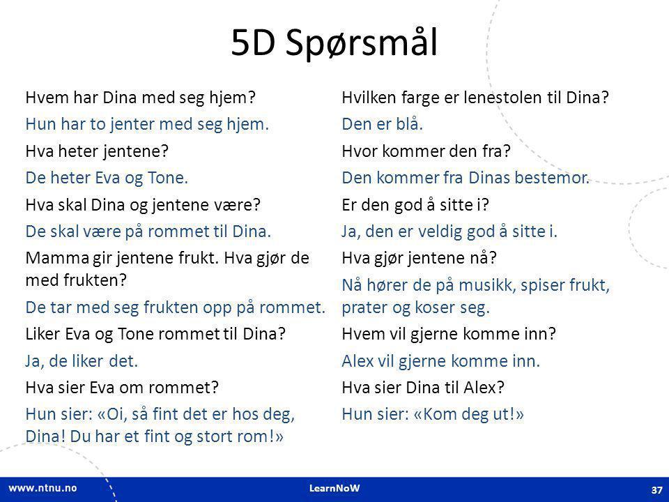 5D Spørsmål