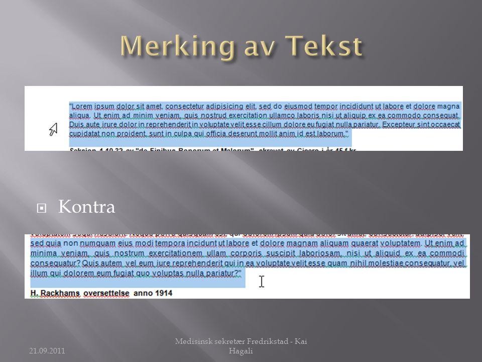 Medisinsk sekretær Fredrikstad - Kai Hagali