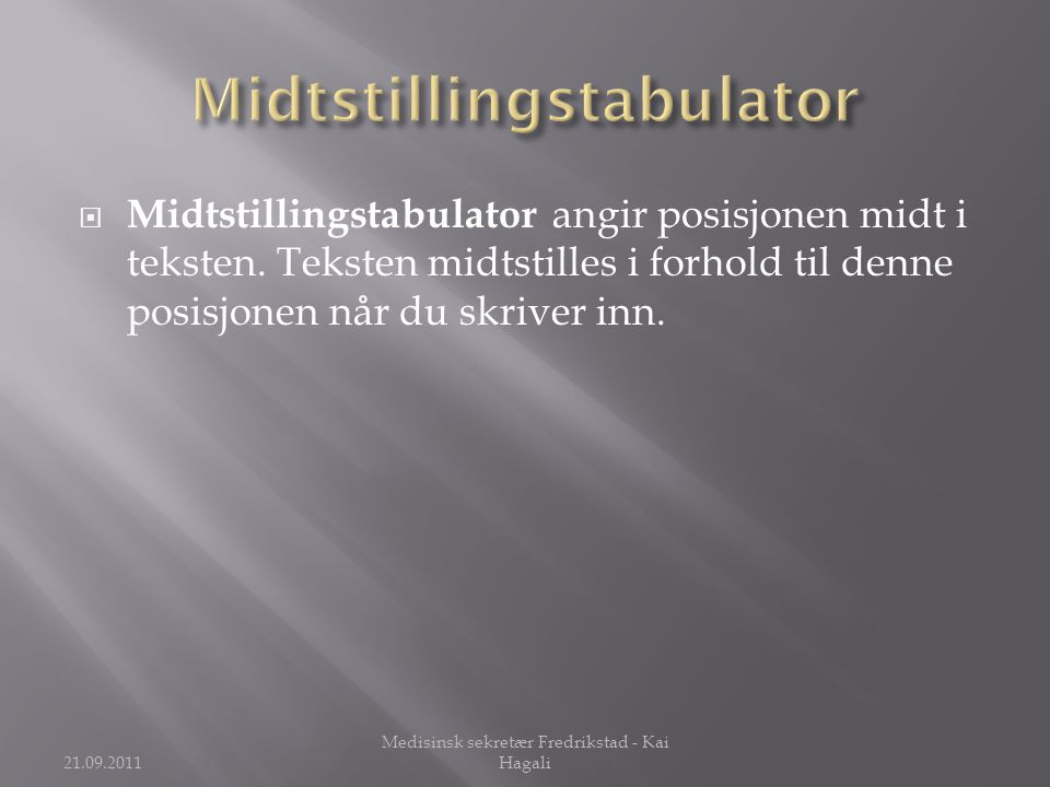 Midtstillingstabulator