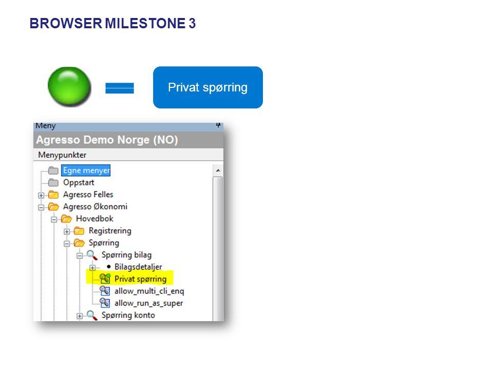 Browser Milestone 3 Privat spørring