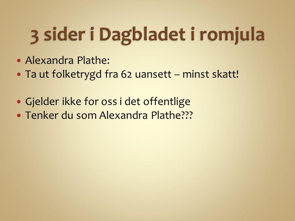 3 sider i Dagbladet i romjula