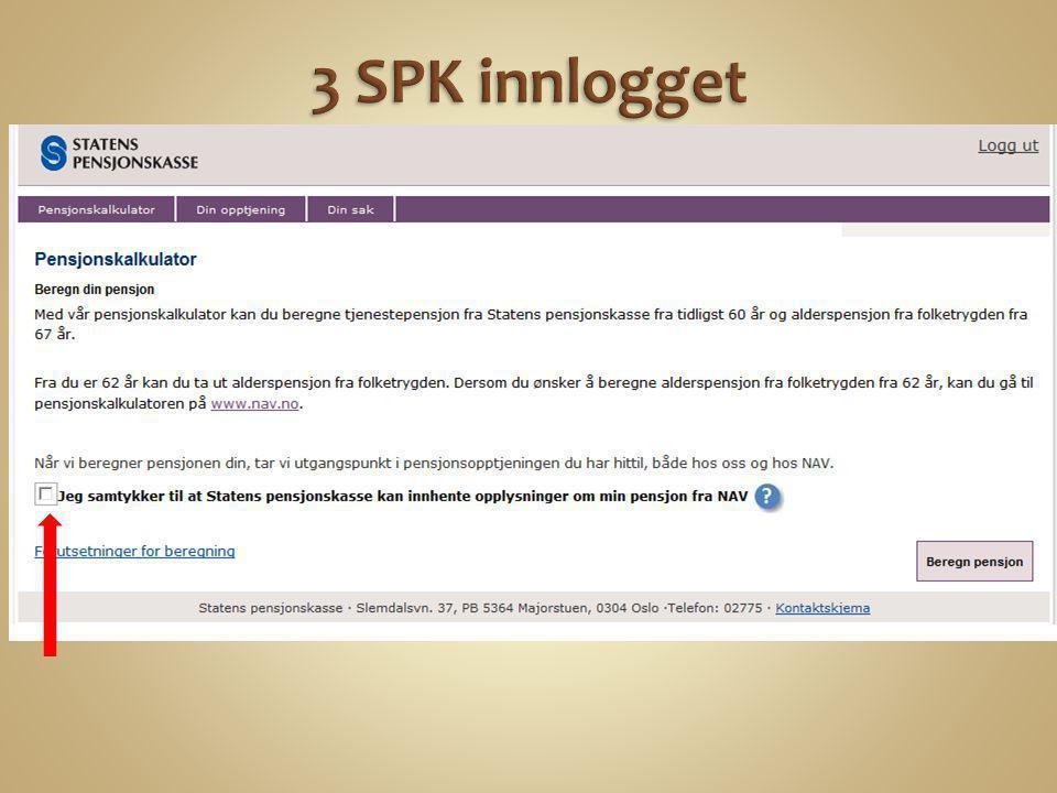 3 SPK innlogget