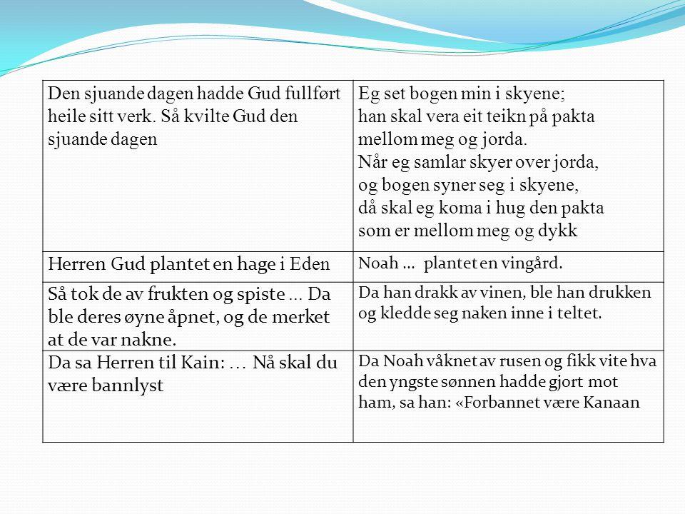Herren Gud plantet en hage i Eden