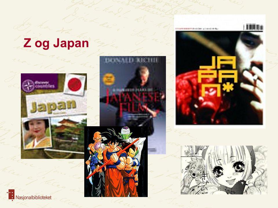 Z og Japan Z – temanummer JAPAN nr 4-2011 Manga (Japansk tegneserie)