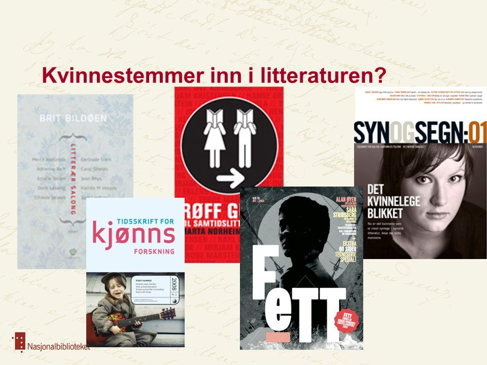 Kvinnestemmer inn i litteraturen