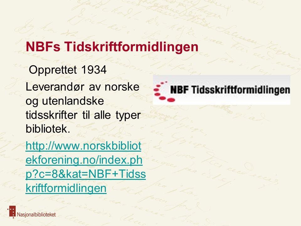 NBFs Tidskriftformidlingen