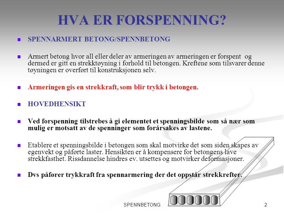 HVA ER FORSPENNING SPENNARMERT BETONG/SPENNBETONG