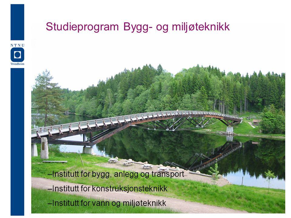 StudieprogramM Studieprogram Bygg- og miljøteknikk