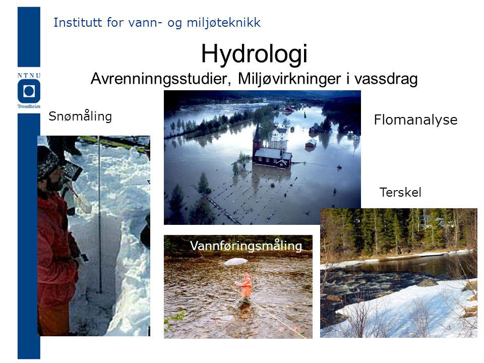 Hydrologi Avrenninngsstudier, Miljøvirkninger i vassdrag