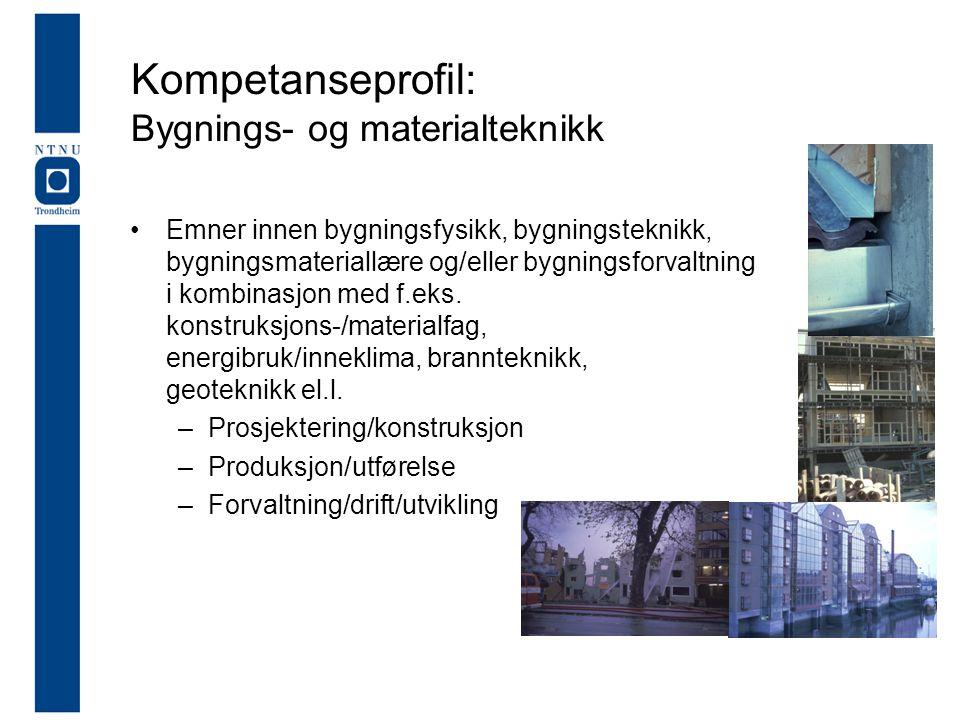 Kompetanseprofil: Bygnings- og materialteknikk