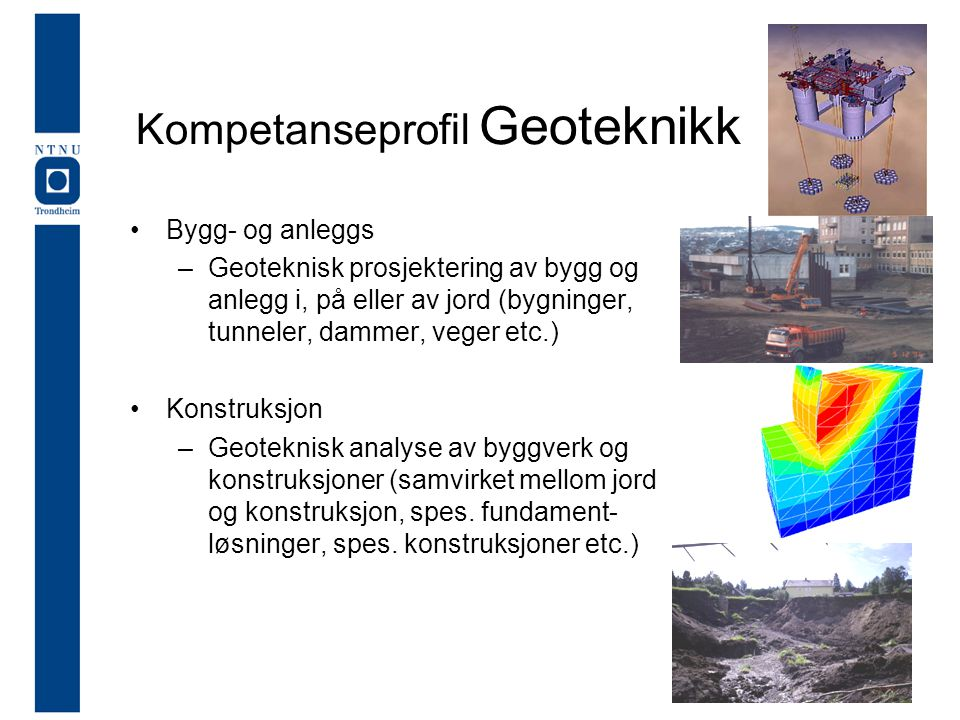 Kompetanseprofil Geoteknikk