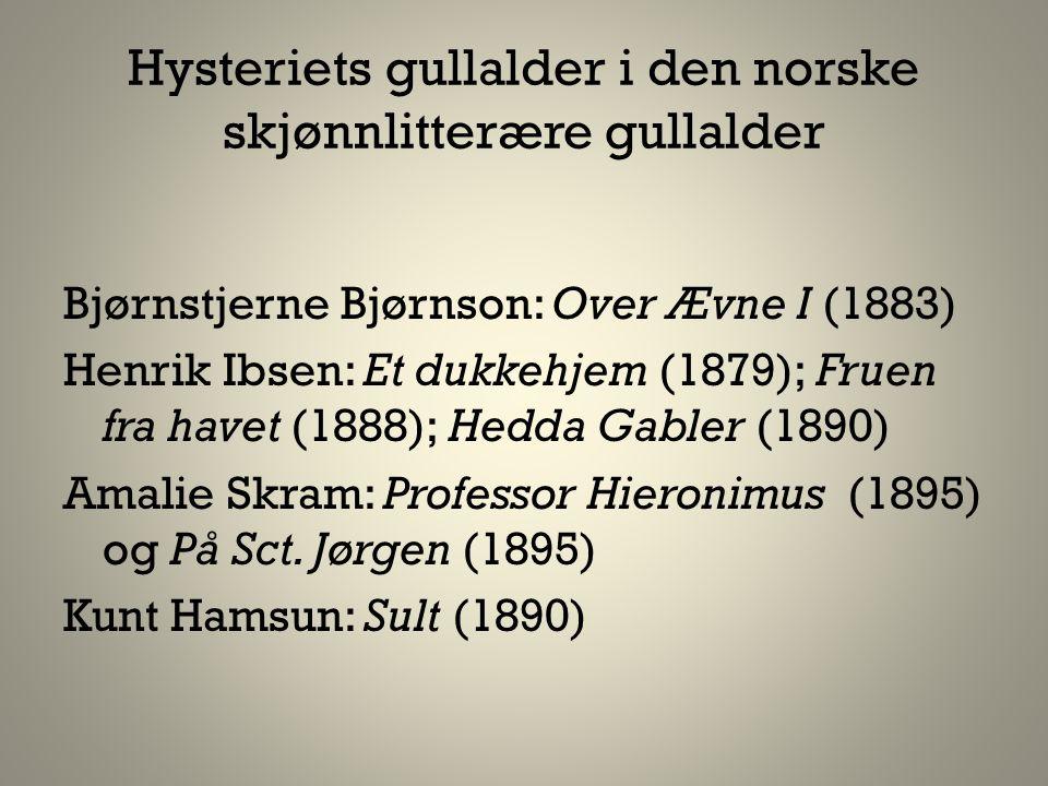 Hysteriets gullalder i den norske skjønnlitterære gullalder