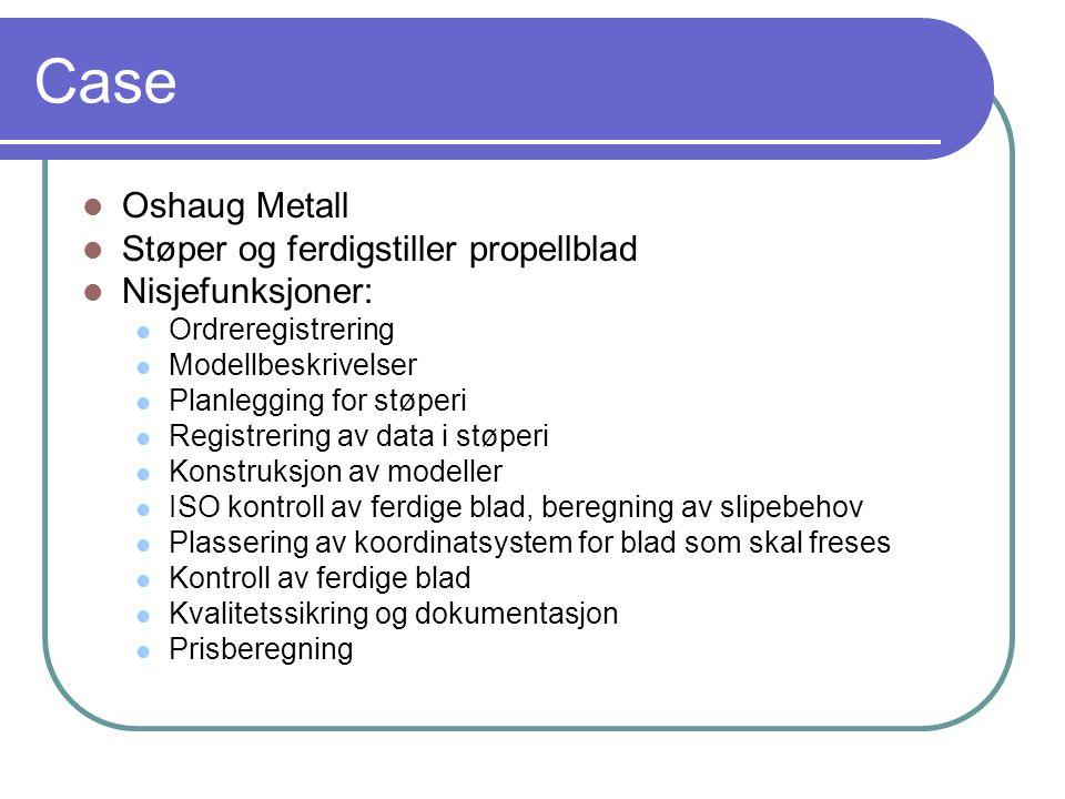 Case Oshaug Metall Støper og ferdigstiller propellblad