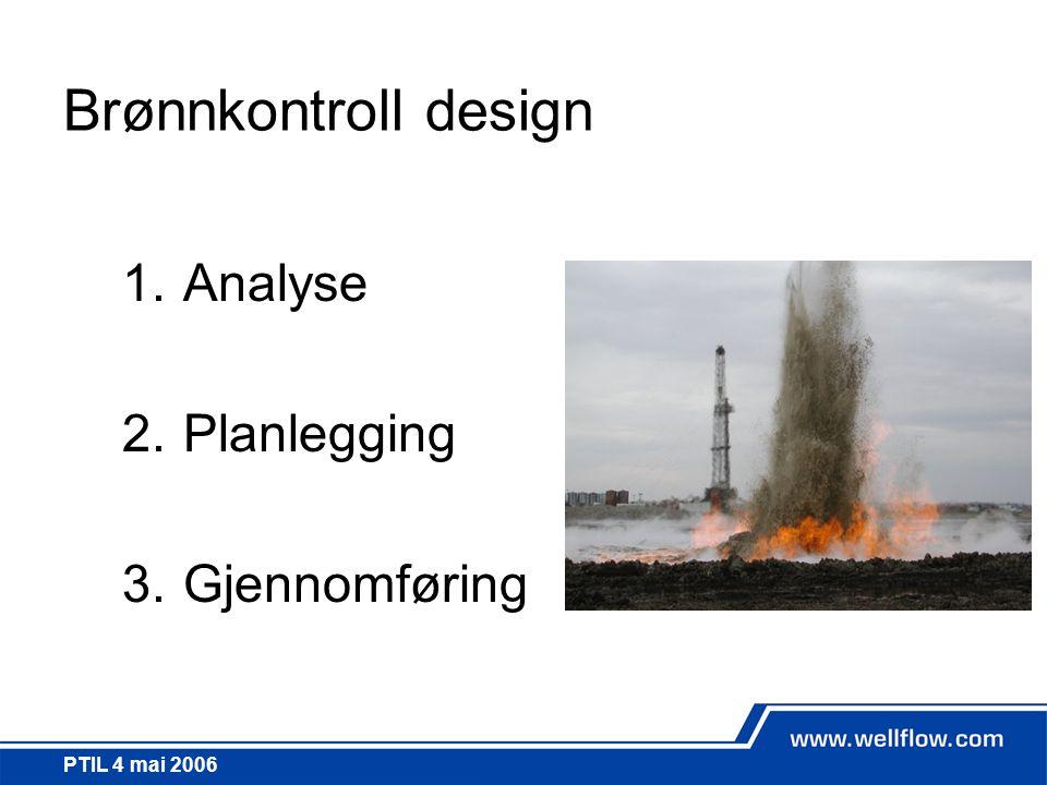 Brønnkontroll design Analyse Planlegging Gjennomføring PTIL 4 mai 2006