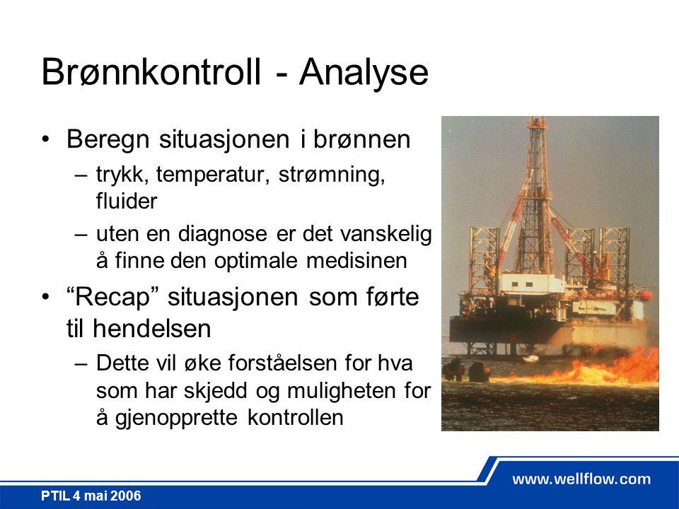 Brønnkontroll - Analyse