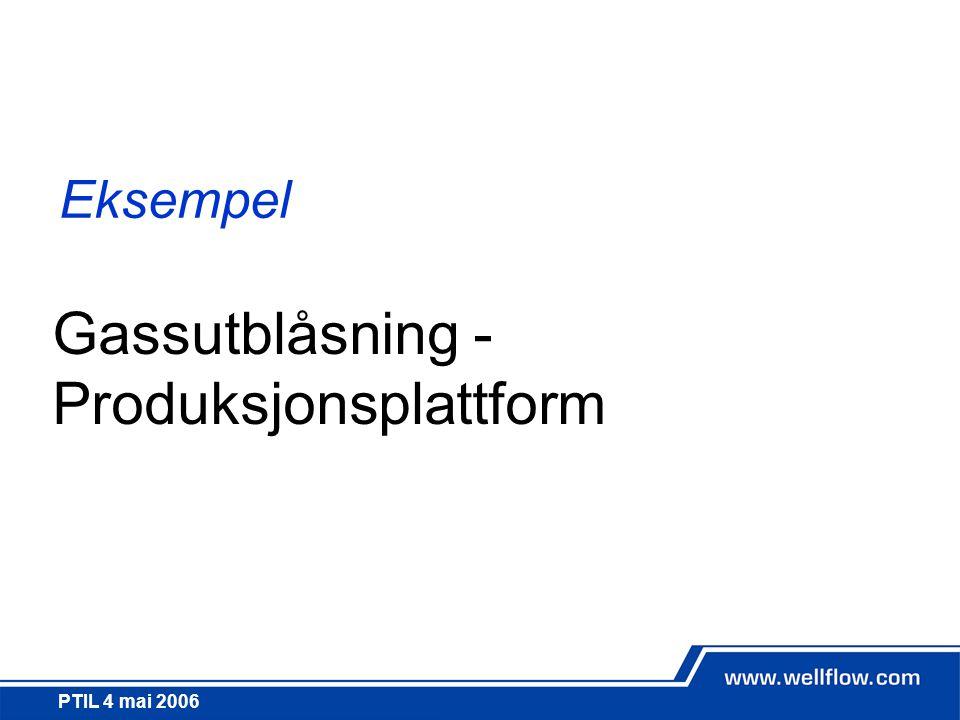 Gassutblåsning - Produksjonsplattform