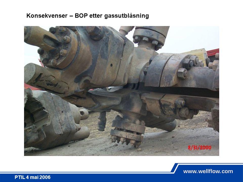 Konsekvenser – BOP etter gassutblåsning