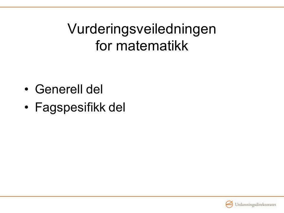 Vurderingsveiledningen for matematikk