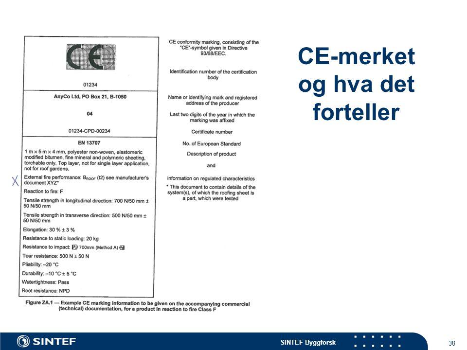 CE-merket og hva det forteller
