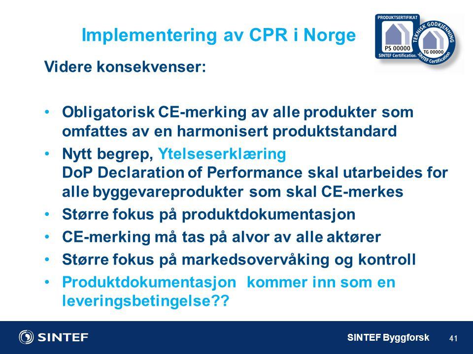 Implementering av CPR i Norge