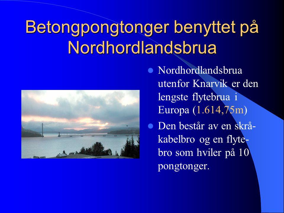 Betongpongtonger benyttet på Nordhordlandsbrua
