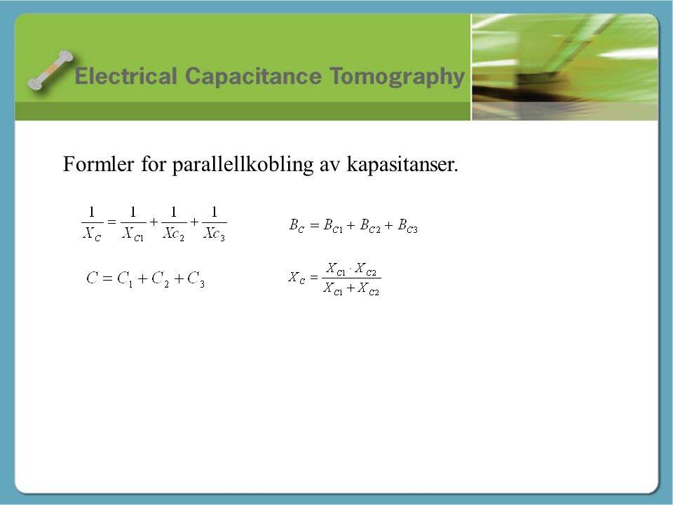 Formler for parallellkobling av kapasitanser.