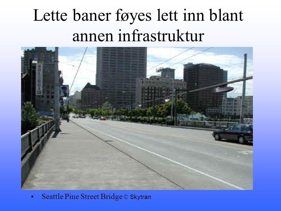 Lette baner føyes lett inn blant annen infrastruktur