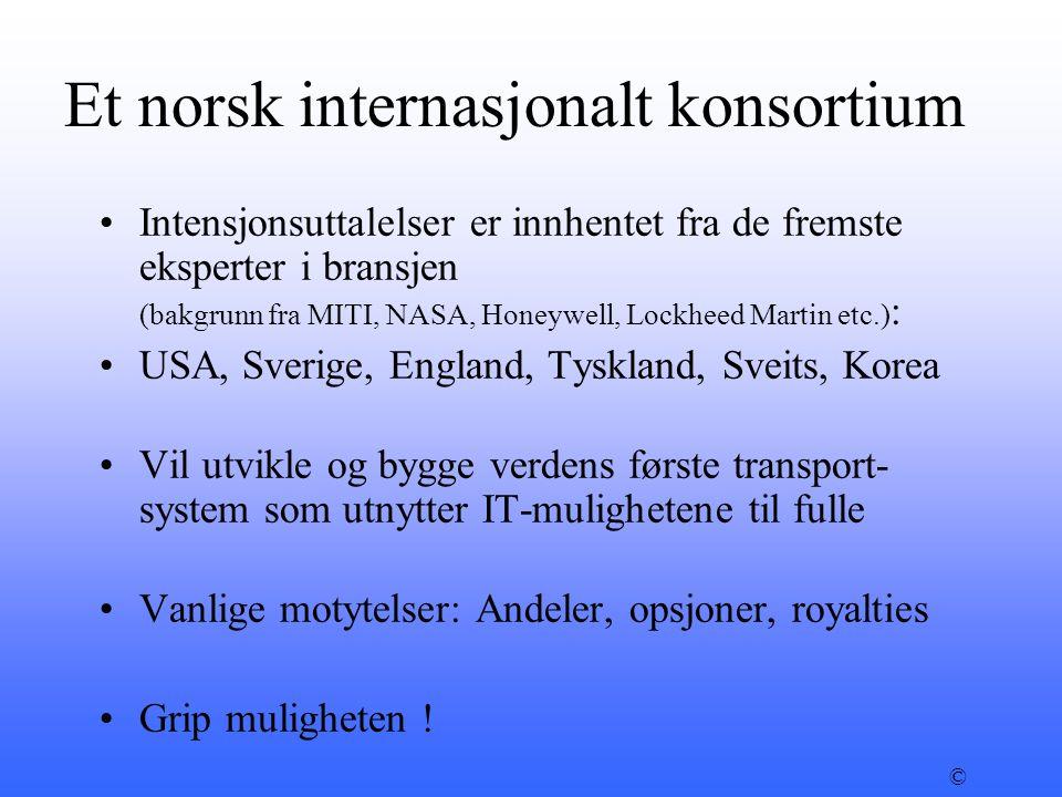 Et norsk internasjonalt konsortium