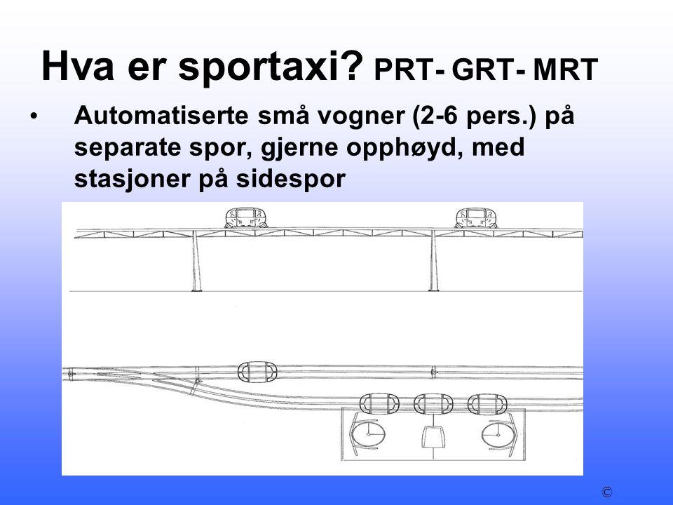 Hva er sportaxi PRT- GRT- MRT