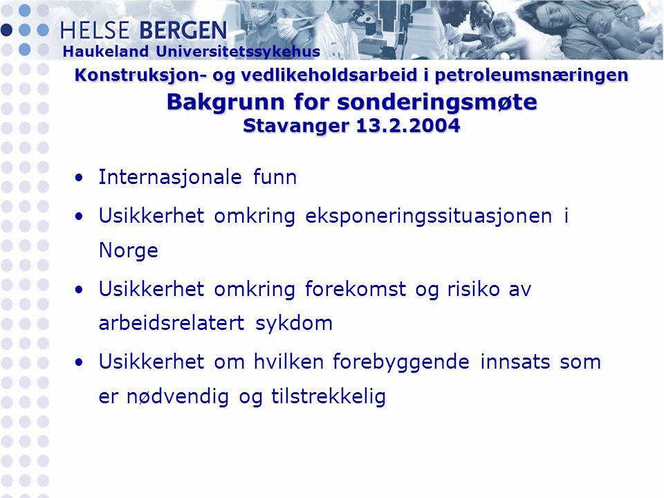 Usikkerhet omkring eksponeringssituasjonen i Norge