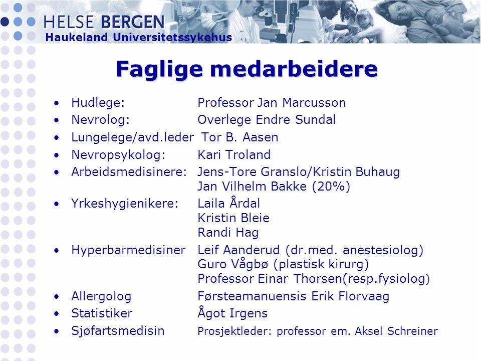 Faglige medarbeidere Hudlege: Professor Jan Marcusson