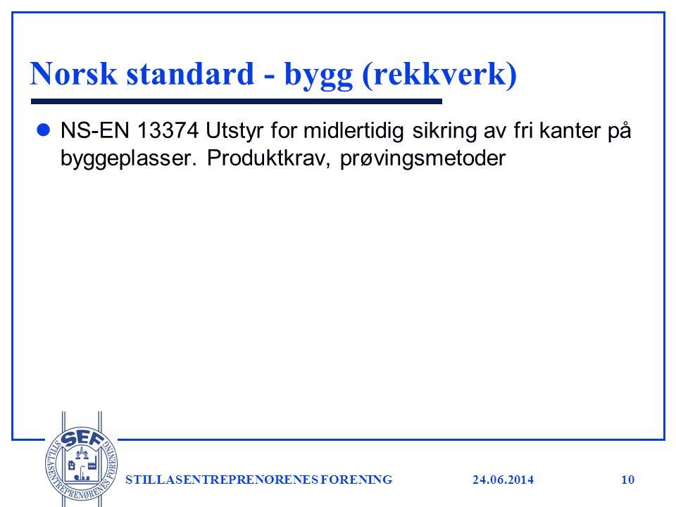 Norsk standard - bygg (rekkverk)