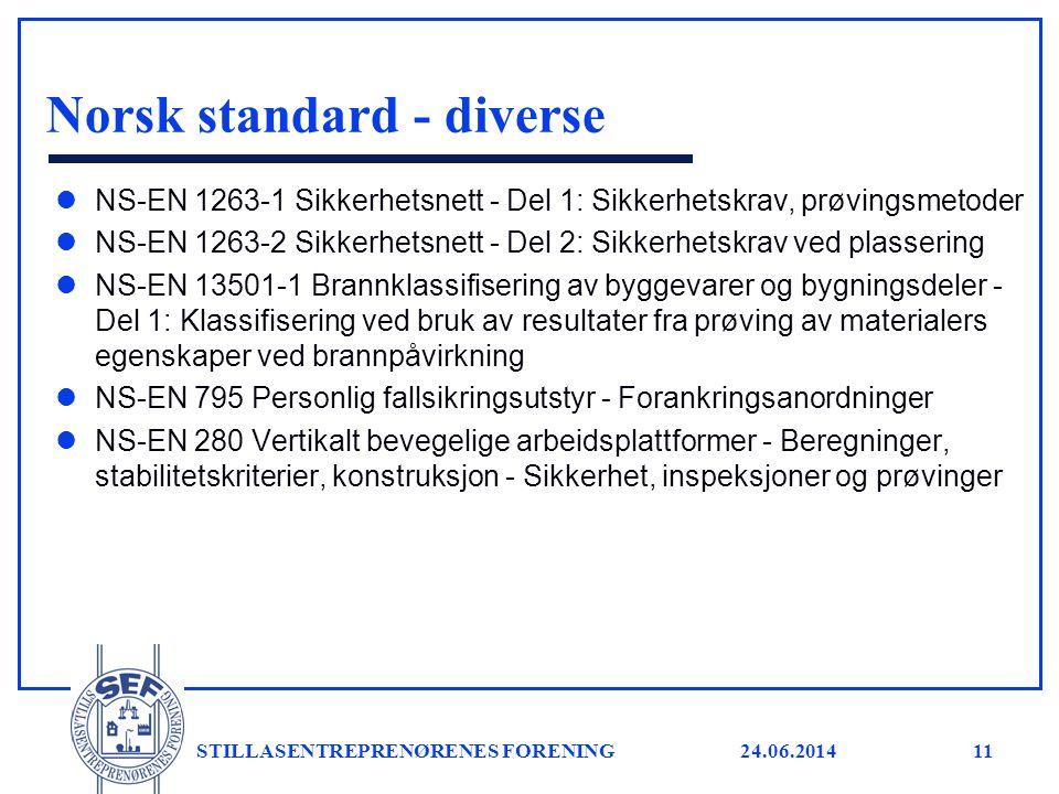 Norsk standard - diverse