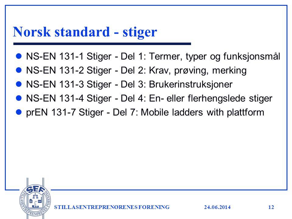 Norsk standard - stiger